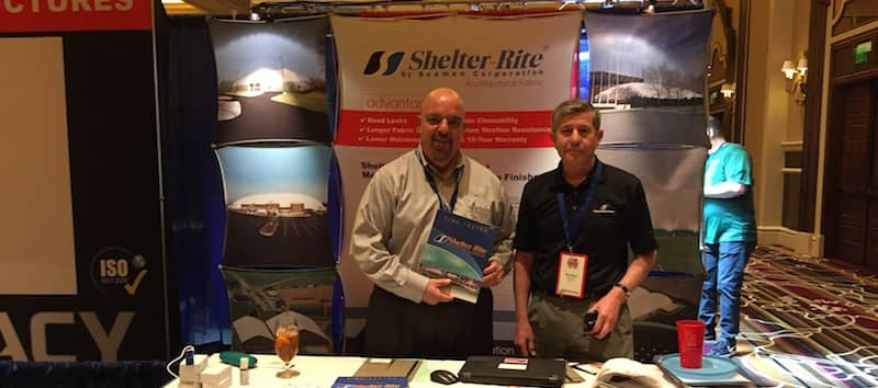 Felon Wilson and Joe DiCesare of Seaman Corporation at US Indoor Trade Show