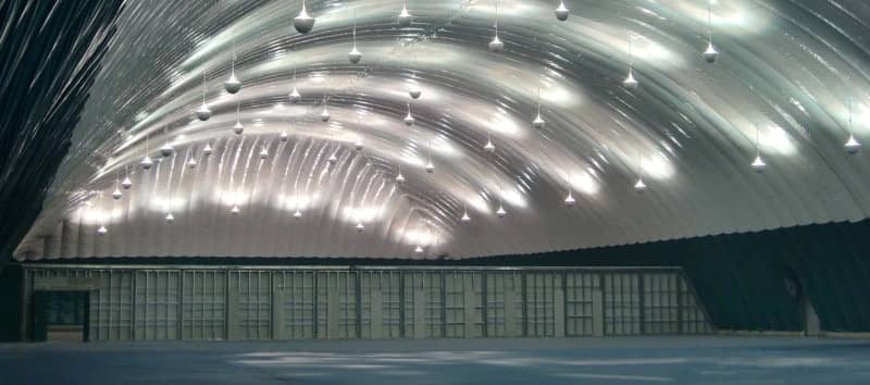 The Interior of a Shelter-Rite Architectural Fabrics Air-Supported Structure