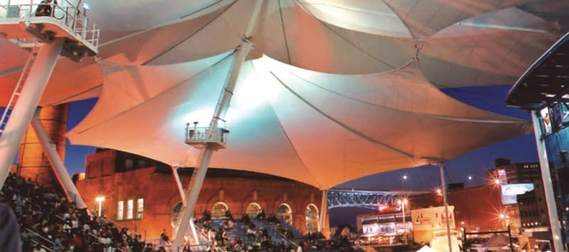 Shelter-Rite Architectural Fabrics Installation at Jacobs Pavilion at Nautica