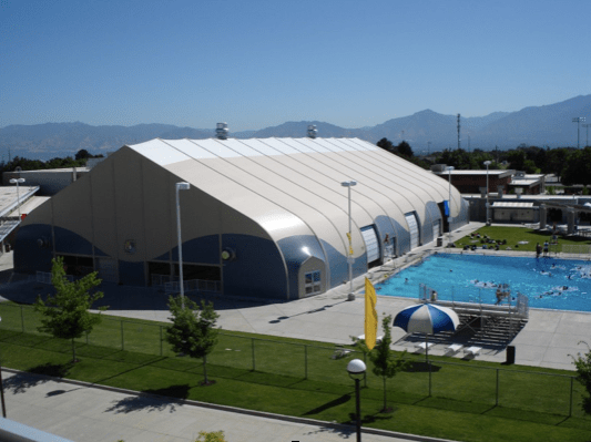 Kearns Oquirrh Park Fitness Center - Kearns, UT:  Olympic Sized 50 Meter Pool Enclosure - DuPont Tedlar and Arkema Kynar Exterior Membrane