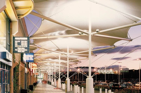 fabric awnings mall