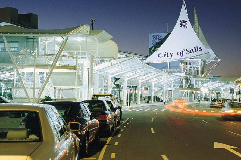fabric canopies at Auckland Airport