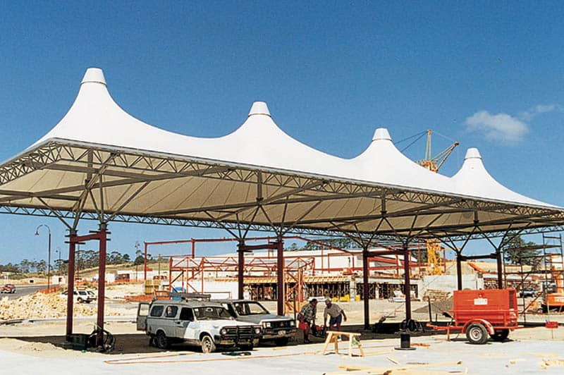 tension structures service station