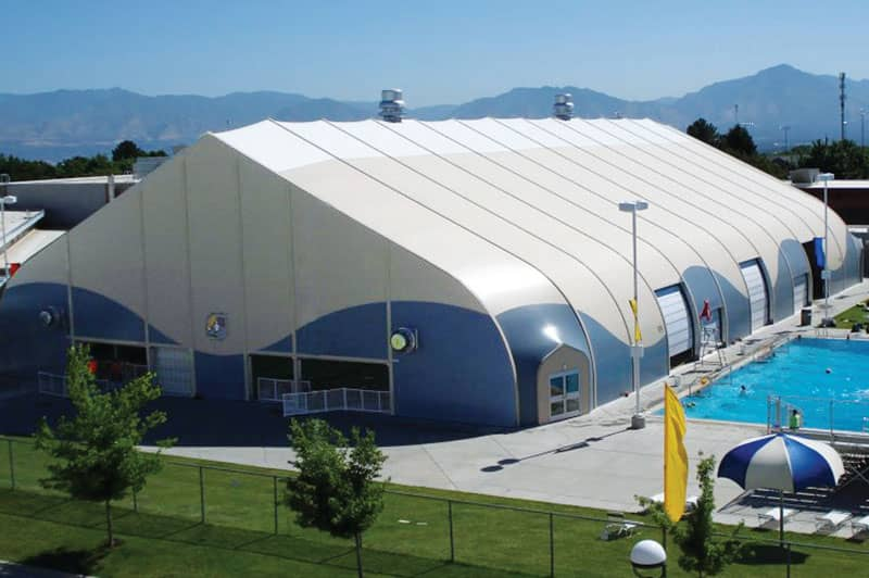high performance architectural fabric building